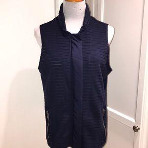 Zenergy blue zip up Chico's vest